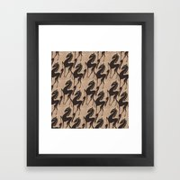 Burlap horses Framed Art Print