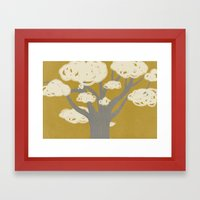 Tree Clouds Framed Art Print