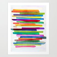 Colorful Stripes 1 Art Print