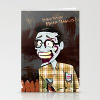 Hipster Zombie Stationery Cards