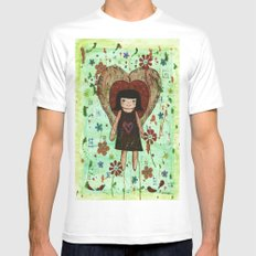 Broken girl SMALL White Mens Fitted Tee