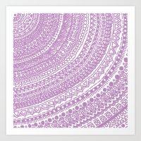 Pink Pulse O2. Art Print