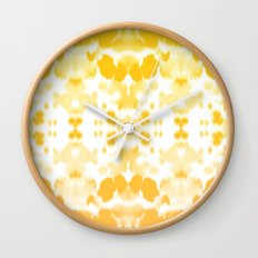 Ink mirror yellow Wall Clock