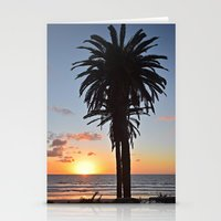 Southern California Sunset Palm Tree Stationery Cards