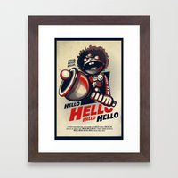 HELLO! HELLO! (white) Framed Art Print