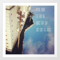 Upside Down Inspiration Art Print