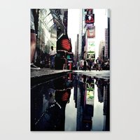 Time Square Mirror Canvas Print