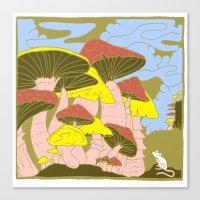 Mushroom Kingdom Canvas Print