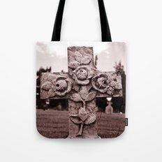 Cross of roses Tote Bag