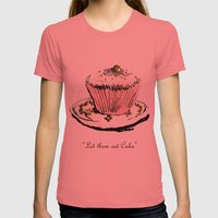 Let Them Eat Cake Womens Fitted Tee Pomegranate SMALL