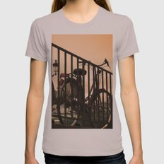 Bike in Paris Womens Fitted Tee Cinder SMALL