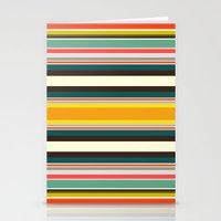 Retro Stripe Stationery Cards