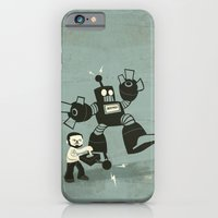 iPhone Cases featuring One Button Destruction by David Finley