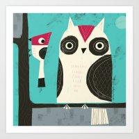 BIRD BUDDIES Art Print