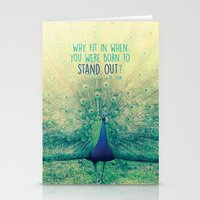 peacock Stationery Cards featuring Peacock  by Graphic Tabby
