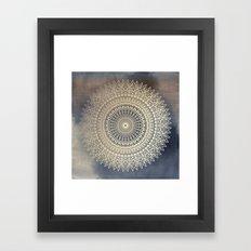 DESERT SUN MANDALA Framed Art Print