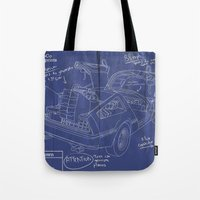 Time Machine Blueprint Tote Bag