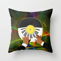 Play My Record Throw Pillow