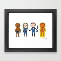 Super Cute Heroes: Fantastic Four Framed Art Print