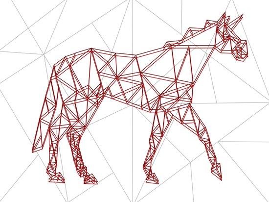 Wired Unicorn Art Print