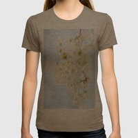 Spring Flowers  Womens Fitted Tee Tri-Coffee SMALL