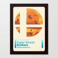 Sunset Smash Bros. Canvas Print