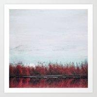 The Red Landscape Art Print