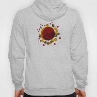 Circular Brown Abstract Dots Texture Hoody