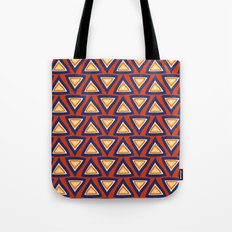 Blue Orange Triangles Tote Bag