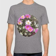 Daisy Mens Fitted Tee Tri-Grey SMALL
