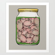 Pickled Pigs Art Print