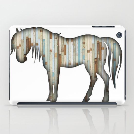 Wooden horse iPad Case
