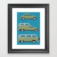 Beetle Camper Framed Art Print