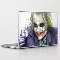 joker Laptop & iPad Skins featuring Joker  by Olechka