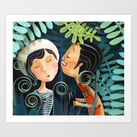Kiss Good Night Art Print