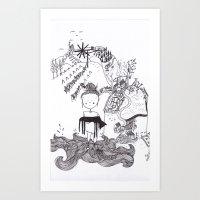 styrian childlhood  Art Print