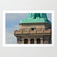 Statue of Liberty's Feet Art Print