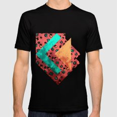 Tulips Black Mens Fitted Tee SMALL