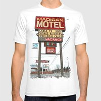Motel Americana Mens Fitted Tee White SMALL