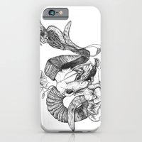 iPhone & iPod Case featuring The ramskull and bird by Kirsten McNee