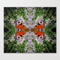 The Peacock Conversation Canvas Print