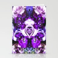 Purple Pink Flowers Stationery Cards