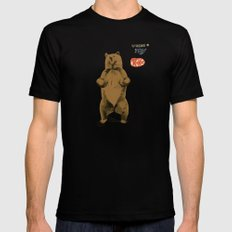 KitKat Bear Black SMALL Mens Fitted Tee