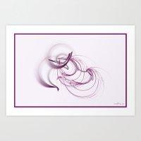 Lavender Swirls Art Print