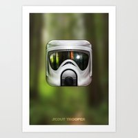 Scout Trooper Art Print