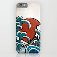 iPhone Cases featuring Hokusai comic by Nxolab