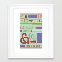 The Strong Quiet Type Framed Art Print