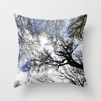 Vertical Trees Throw Pillow