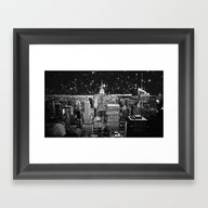 Starry Night In New York Framed Art Print
