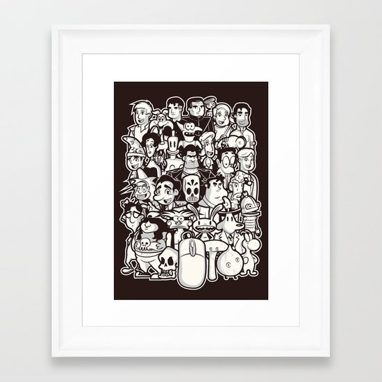 Point and Click  Framed Art Print